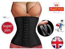 UK Waist Trainer Body Shaper Tummy Control Girdle Slim Belt Black Sport Corset
