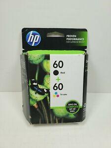 Genuine HP 60 Black & Tri-Colo Combo  EXP 11/2014 New
