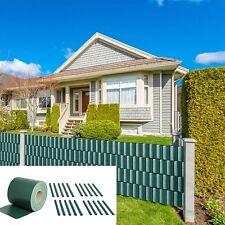 Sichtschutzfolie für Doppelstabmatten blickdicht PVC Zaunfolie Windschutz 35M