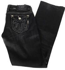 "MEK womens SZ 30"" x 30"" black wash ""OAXACA"" boot cut denim jeans women's"