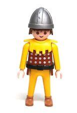 Playmobil Figure Castle Catapult Knight w/ Helmet Brown Hair Dagger 3653