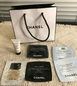 7 PIECE CHANEL BEAUTY MIXED LOT SKIN CARE MAKE UP FRAGRANCE SAMPLES - NEW