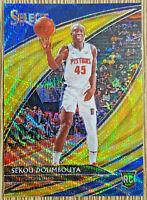 2019-20 Panini Select Sekou Doumbouya Courtside Gold Wave Prizm 🏀 🔥 Pistons