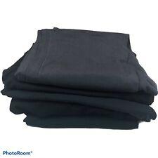 Women's Medium Scrub Pants Lot of 5 Medical Nursing Black Gray Cotton Blend Flaw