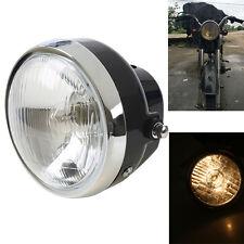1x Round Motorcycle Headlight Front Headlamp for Honda JH70 Harley Suzuki Yamaha