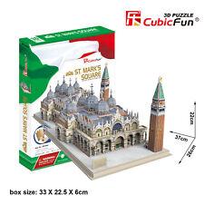 CubicFun 3D Puzzle MC209H St.Mark's Square,Building Jigsaws,107 Pieces
