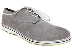 Walk-Over Men's Kerouac Plain Toe Oxfords Buck Suede Grey Size 8.5 M