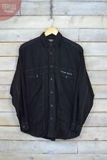 Camisas casuales de hombre en color principal negro vaquero