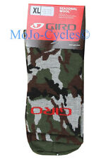 Giro Seasonal Merino Wool Camouflage Cycling Mountain bike Cyclocross socks XL