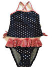 Patriotic Baby Toddler Girl 2 Piece Swimsuit Size 18 Months Brand New With Tags