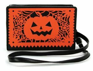 Pumpkin Handbag Purse Halloween Jack O Lantern Gothic Goth Horror Crossbody Gift