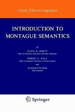 Introduction to Montague Semantics (Synthese Language Library)