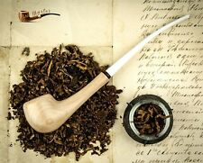 "Hand Made Lady Wooden Tobacco Smoking Pipe White "" Light "" Churchwarden Artisan"
