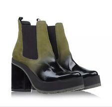 Miista Military Yolanda Gradient Patent Ankle Boots Green Lthr 9.5/40EU Msp $305
