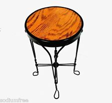Vintage Ice Cream Wrought Iron Soda Chair Vtg Parlor Metal Stool Stand