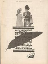 Carter DeHaven Marvel Spencer 1916 Ad- From Broadway To A Throne/Red Feather
