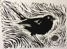 Linocut Small (up to 12in.) Black Art Prints