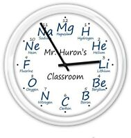 Chemistry PERSONALIZED Wall Clock - Science Lab Teacher Professor - GIFT