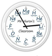 Chemistry PERSONALIZED SILENT Wall Clock - Science Lab Teacher Professor - GIFT
