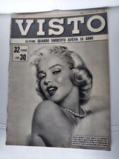 MARILYN MONROE COVER!! VISTO  Italian Magazine SEPTEMBER 1954