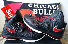 nike lebron 8 ps playoff size 11 black red 2011