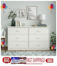 Classic 6 Drawer Dresser, White Finishwow