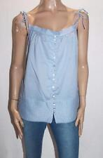 BARKINS Brand Blue Cotton Button Front Cami Top Size 10-S BNWT #Si46