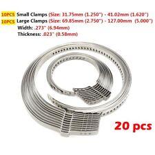 20pcs Universal Car Truck Automotive Drive AXLE CV Joint Boot Crimp Clamps Kits