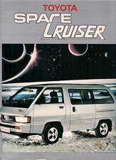 Toyota Space Cruiser 1.8 1985 UK Market Sales Brochure Portfolio