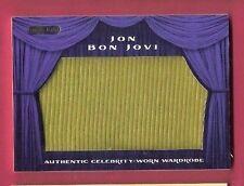 JON BON JOVI ROCK STAR AUTHENTIC WORN RELIC SWATCH MEMORABILIA WARDROBE CARD