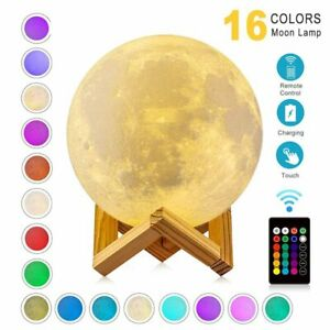 2/16 Colour 3D Galaxy Moon Night Light With Remote Control