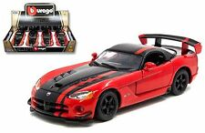 BBURAGO 1:24 DISPLAY - DODGE VIPER SRT10 ACR - 4 x Diecast Car - Box Set 24114