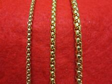 """16""""-60"""" 3/4/5MM GOLD STAINLESS STEEL SMOOTH BOX ROPE CHAIN NECKLACE-GOLD"""
