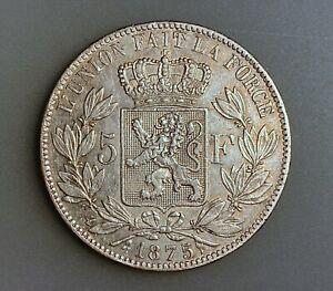 Belgium 5 Francs 1875        KM# 24    VF