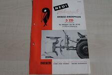 161035) Rabewerk Anbau Drehpflug - 3 ZD - Prospekt 04/1953
