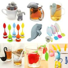 Mr Tea Infuser Loose Tea Leaf Strainer Silicone Herbal Spice Filter Diffuser