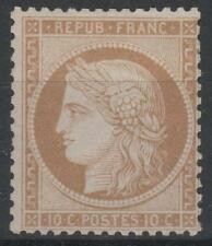 "FRANCE STAMP TIMBRE N° 36 a "" CERES  10c BISTRE-BRUN  1870 "" NEUF x TTB K578"