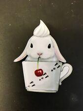 Carino Bianco Soffici Coniglio Crema Tazza Di Caffè Decorativo Particolare Funky