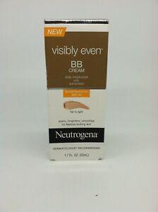 Neutrogena BB Cream Fair to Light 1.7oz Without Sunscreen NEW