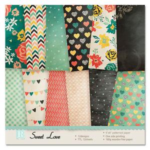 "12x 6"" Sweet Love DIY Photo Album Scrapbooking Craft Card Single-sided Paper DIY"