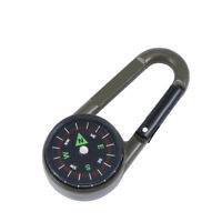 3-in-1 Mini Carabiner Key Ring KeyChain Compass Thermometer for Hiking Travel