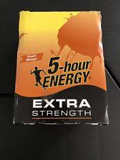 5 Hour Energy Shot Peach Mango Extra Strength 12 Ct 1.93 oz Bottles Exp 6/2022