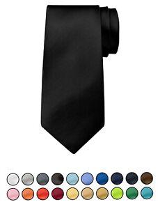 BomGuard Herren Krawatte 8cm oder 10cm breit  Damen Schlips Tie Anzug Hemd Uni