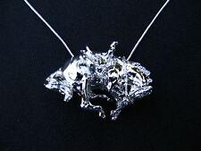 HORSE JEWELRY Bucking western platinum clad necklace Zimmer design