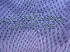 Holland & Sherry London 1836 L/S 100% Cotton Custom Made Dress Shirt Made in USA