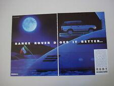 advertising Pubblicità 1990 RANGE ROVER