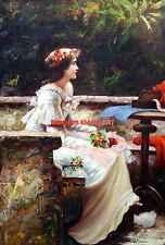 "24x36""100% hand painted oil flat,World Famous Painting,Portrait, 18-19 Century"