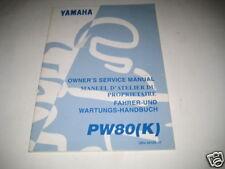 Werkstatthandbuch Yamaha PW 80 (K) , Stand 1997