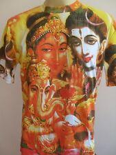 Shiva family Shiva Parvati Ganesh Men T Shirt OM Hindu India L  SF04