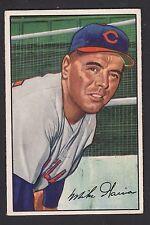 1952 Bowman #7 Edward Miguel Mike Garcia Cleveland Indians baseball card